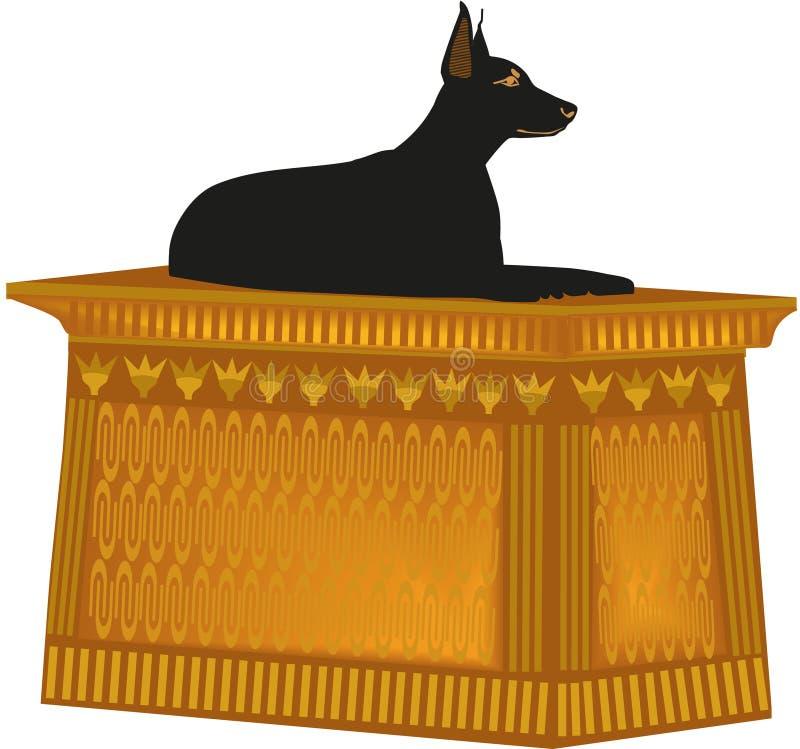 Doberman della statua del cane illustrazione di stock