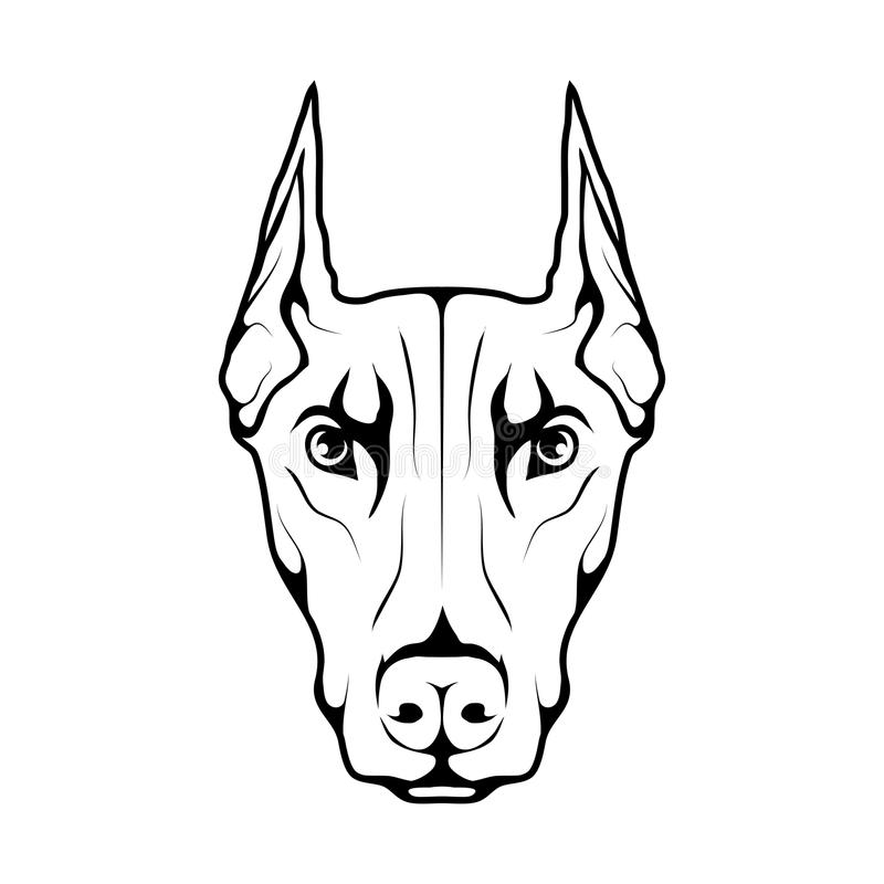 Dobermannhundeikone vektor abbildung