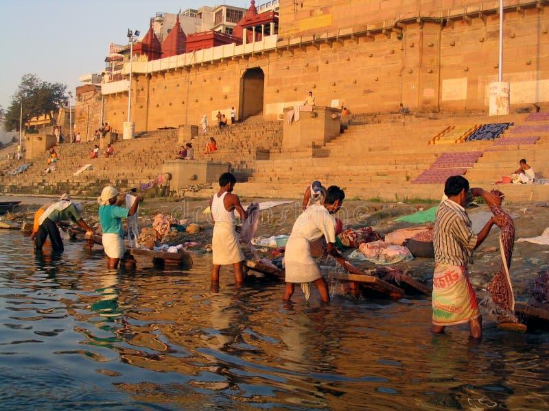Dobhi en el Ganges fotografía de archivo libre de regalías