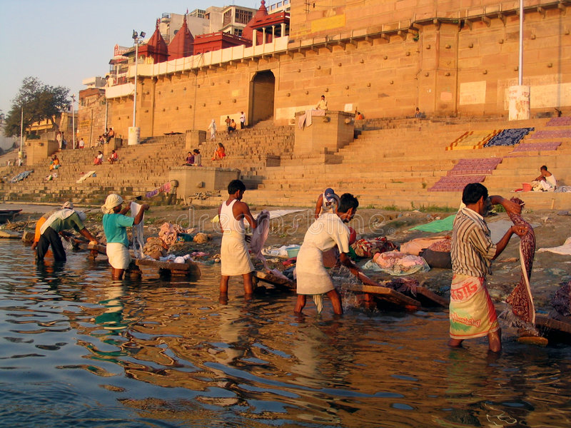 Dobhi nel Ganges fotografia stock libera da diritti