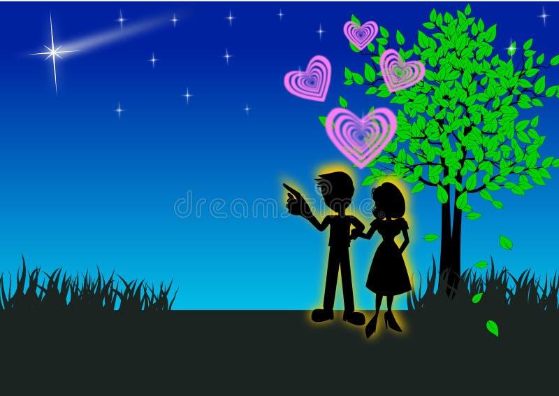 dobiera się romantycznego ilustracji