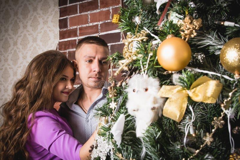 Dobiera się w pokoju dekorującym dla bożych narodzeń i nowego roku obrazy royalty free
