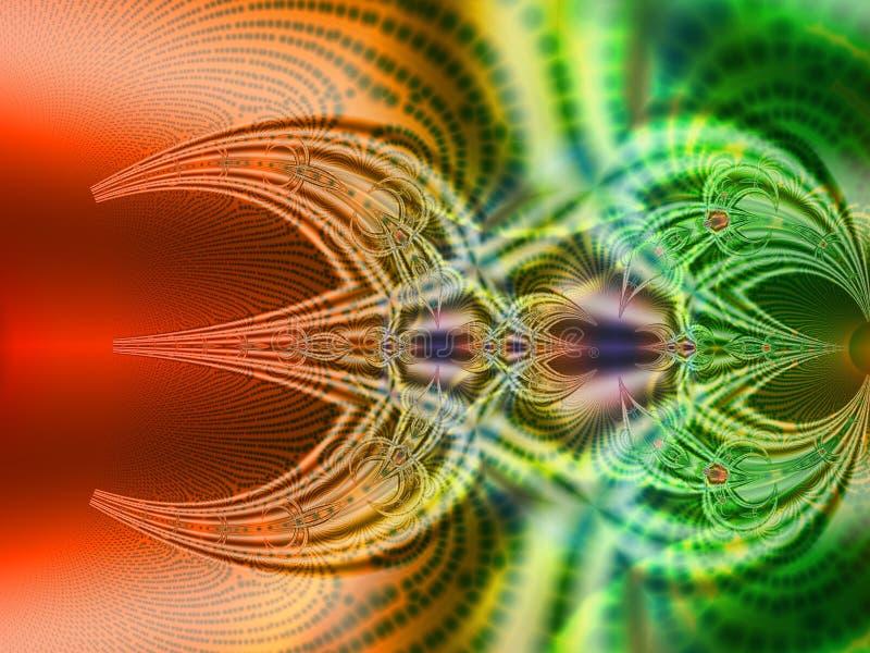 Doble el fractal colorido ilustración del vector