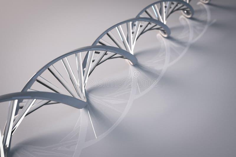 Doble hélice de cristal de la DNA ilustración del vector
