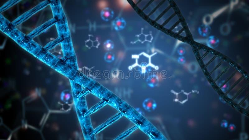 Doble hélice del ácido nucléico de la DNA stock de ilustración