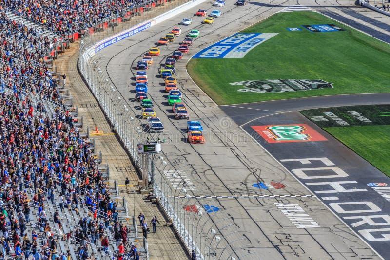 Dobleces del honor 500 Atlanta Motor Speedway foto de archivo