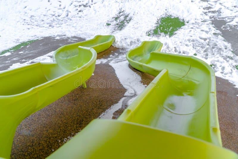 Dobles caras en un patio en Utah en invierno fotografía de archivo