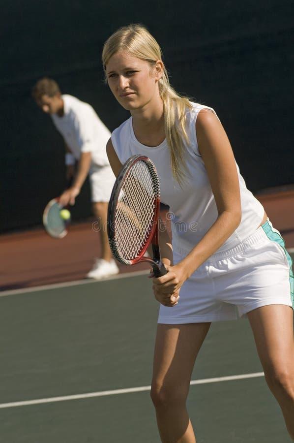 Dobles del tenis foto de archivo libre de regalías