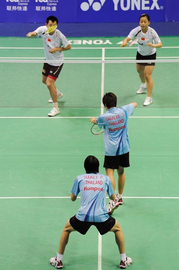 Dobles mezclados, campeonatos 2011 de Asia del bádminton fotografía de archivo libre de regalías