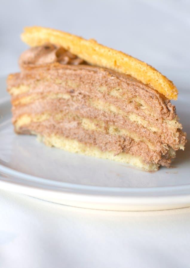 Dobos torte eller Dobosh sockerkaka fotografering för bildbyråer