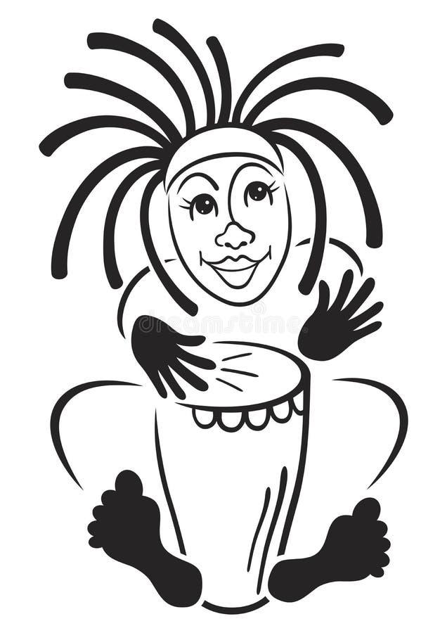 dobosz rastafarian ilustracji
