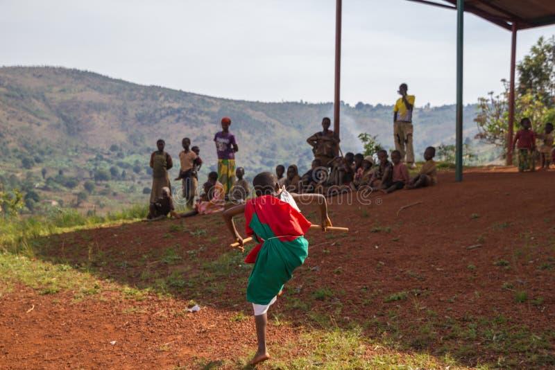 Dobosze Burundi zdjęcie royalty free