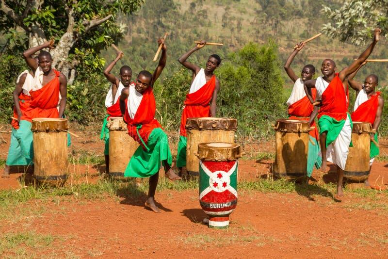 Dobosze Burundi obrazy stock