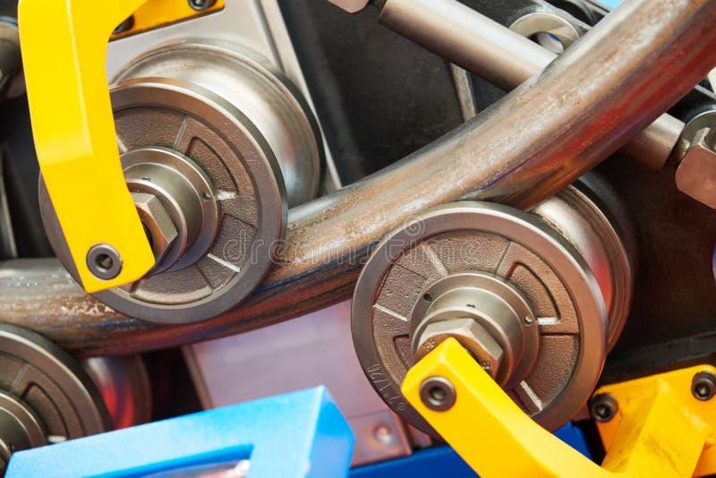 Dobra do tubo M?quina industrial do equipamento do dobrador para a dobra da tubula??o do metal fotografia de stock royalty free
