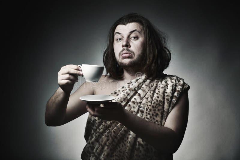 Dobra hodowla przestań tła rogalik filiżanki kawy sweet zdjęcie royalty free