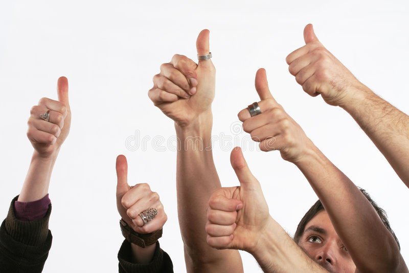 dobra koncepcja kciuki w górę zdjęcie stock