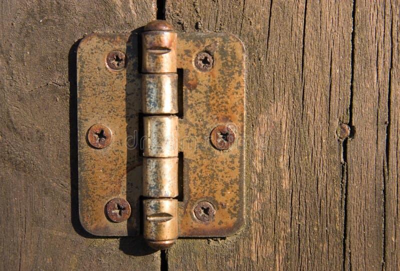 Dobradiça de porta fotografia de stock