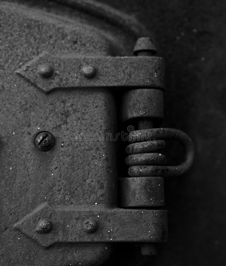 Dobradiça oxidada do vintage fotografia de stock