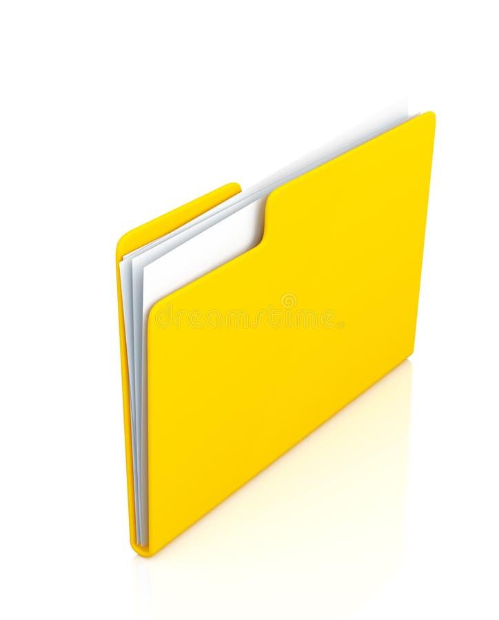 Dobrador amarelo ilustração do vetor