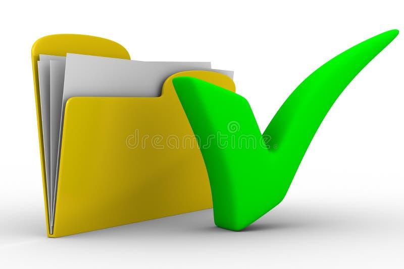 Dobrador amarelo do computador no fundo branco ilustração do vetor