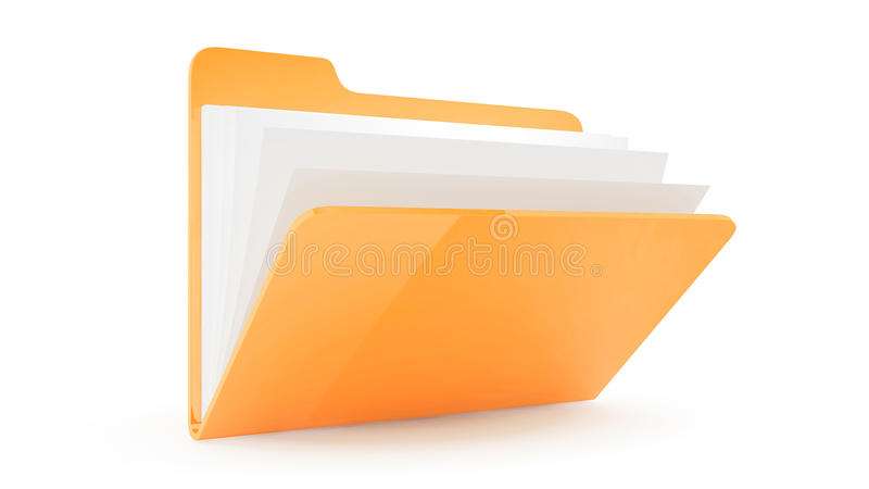 Dobrador com arquivos ilustração stock