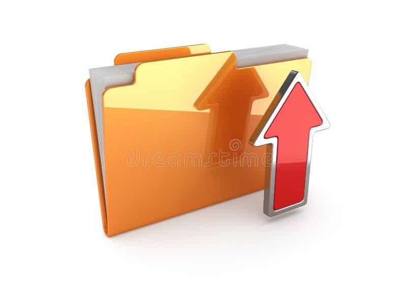 Dobrador da transferência de arquivo pela rede ilustração royalty free