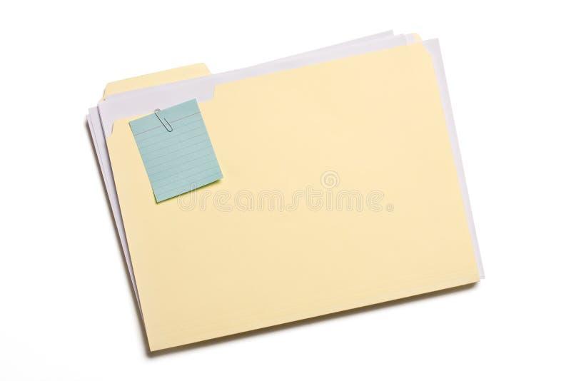 Dobrador de arquivo imagem de stock
