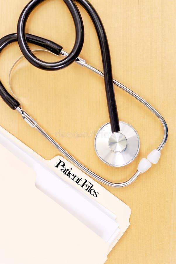Dobrador de arquivo do paciente médico fotos de stock royalty free