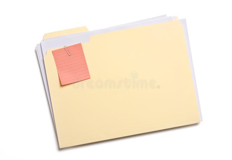 Dobrador de arquivo etiquetado imagem de stock