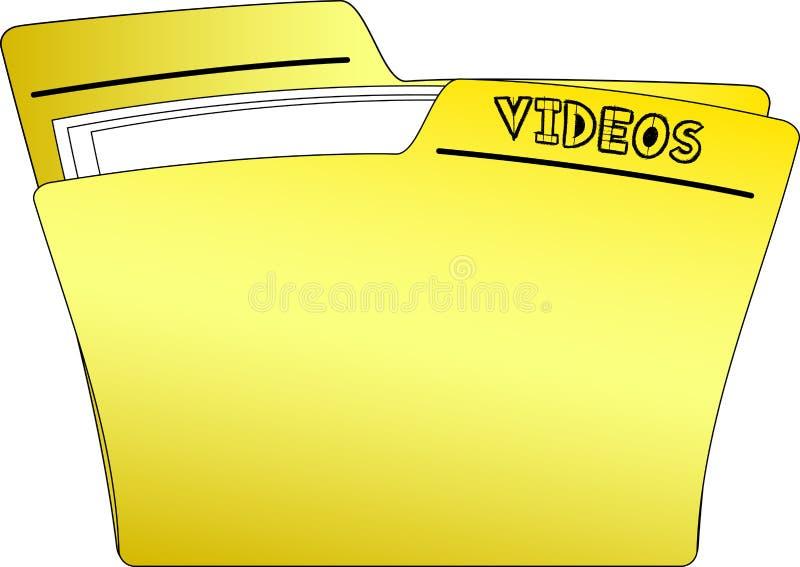 Dobrador dos vídeos do ícone - vetor ilustração royalty free