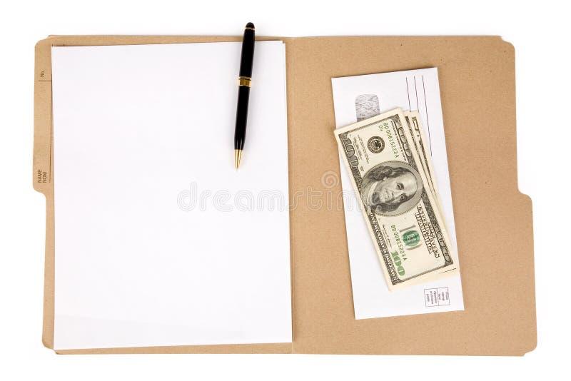 Dobrador e correio de arquivo foto de stock royalty free