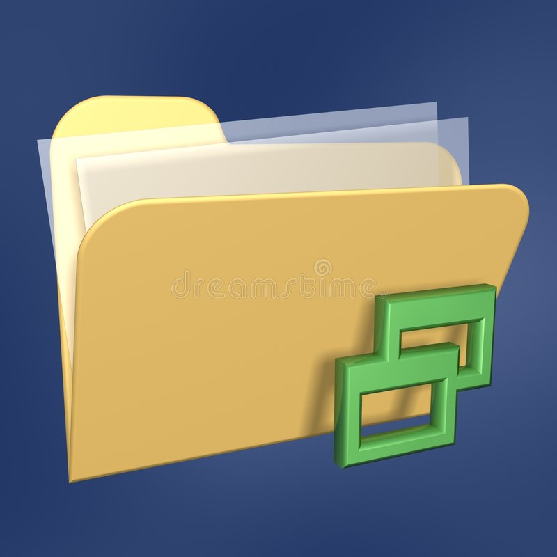 Dobrador e rede de arquivos ilustração royalty free