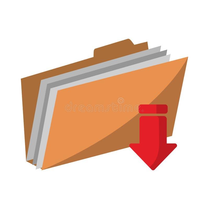 Dobrador que transfere arquivos ilustração do vetor