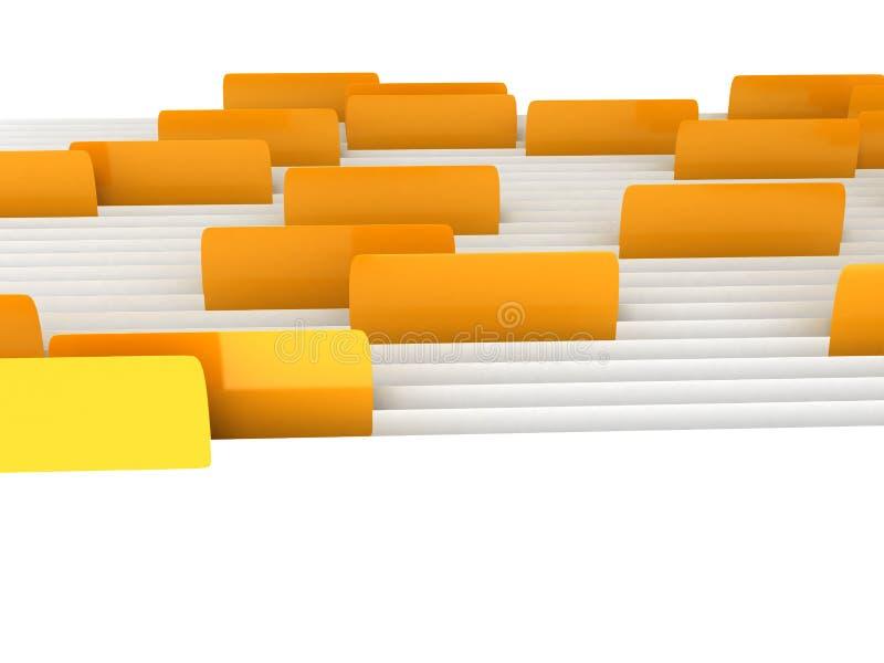 Dobradores brancos com os endereços da Internet sobre o fundo branco ilustração royalty free