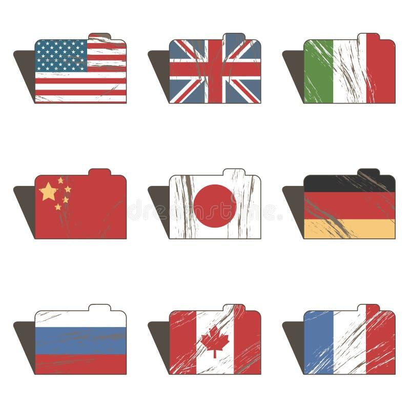 Dobradores da bandeira ilustração royalty free