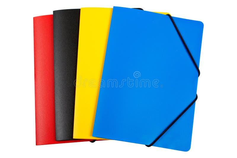 Dobradores da cor isolados fotografia de stock