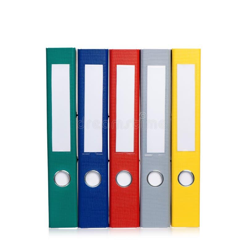 Dobradores de arquivo coloridos imagem de stock
