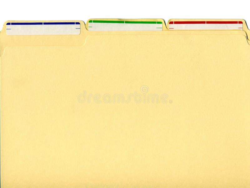 Dobradores de arquivo com etiquetas foto de stock