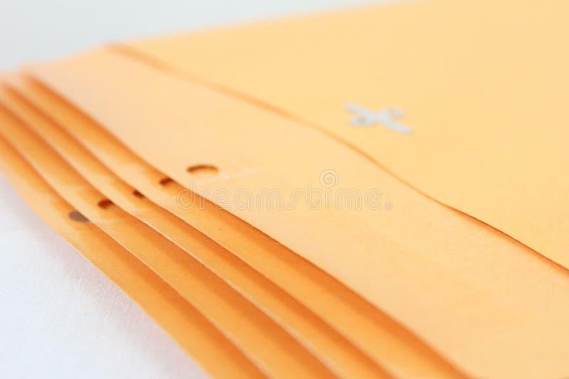 Dobradores do envelope de Manila fotografia de stock