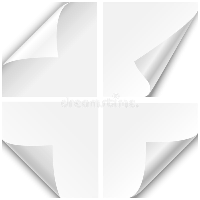 Dobras de canto de papel ilustração do vetor