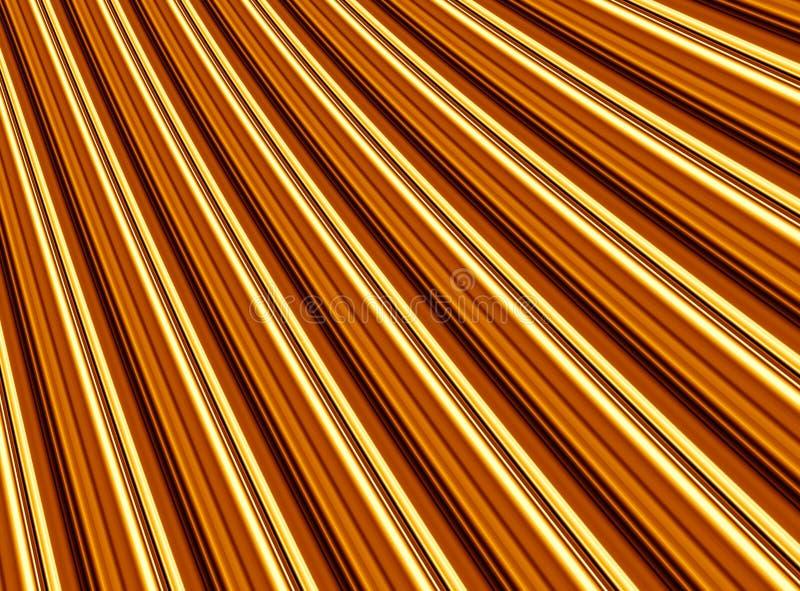 Dobras douradas ilustração do vetor