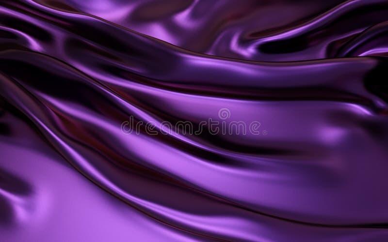 Dobras onduladas roxas do material de seda de veludo do cetim da textura do grunge ou do projeto luxuoso do fundo ou o elegante d ilustração do vetor