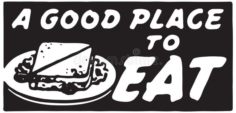 Dobre miejsce Jeść 2 ilustracja wektor