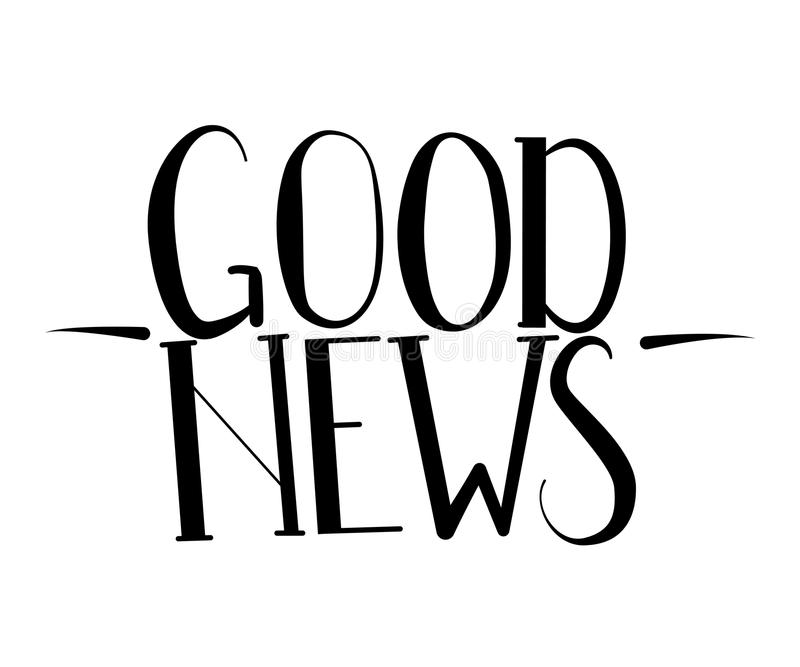 dobre wieści Parzysty, równy drukowani listy royalty ilustracja