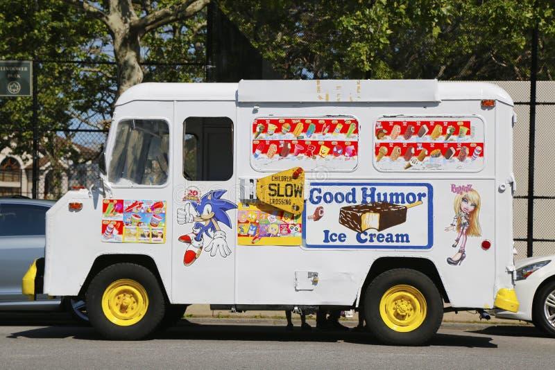 Dobrego Humoru lody ciężarówka w Brooklyn zdjęcia stock