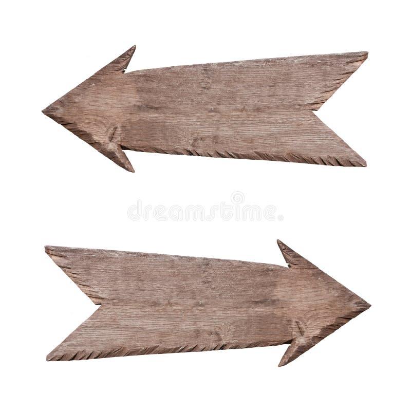 Dobro i opuszczać drewniany pointer obrazy stock