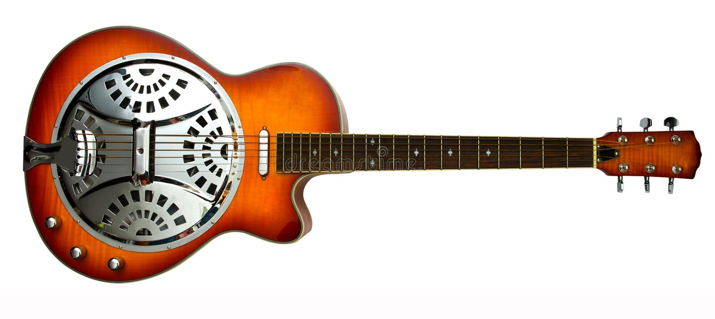 Dobro slide guitar royalty free stock image