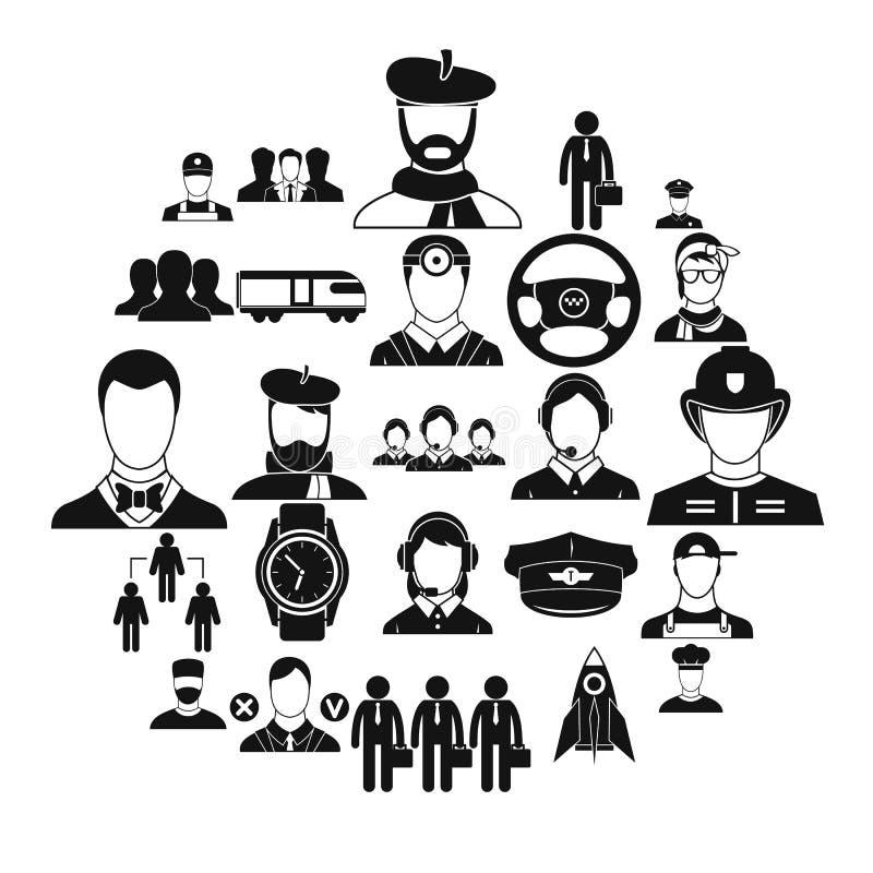 Dobrobyt ikony ustawiać, prosty styl ilustracji