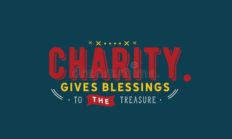 Dobroczynność daje błogosławieństwom skarb ilustracja wektor