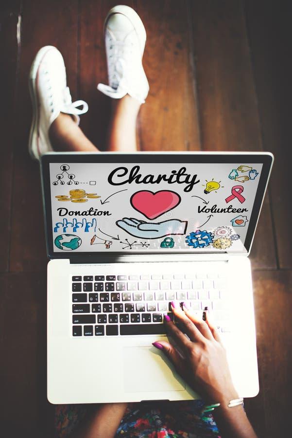 Dobroczynność Daruje opieki społecznej hojności Dobroczynnego Daje pojęcie zdjęcie royalty free